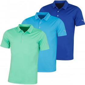 Puma Golf Mens Rotation Lightweight Moisture Wicking Polo Shirt