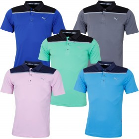 Puma Golf Mens 2019 Bonded Colourblock Polo Shirt