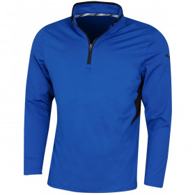 Puma Golf Mens Rotation 1/4 Zip DryCELL Wicking Logo Sweater
