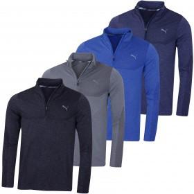 Puma Golf Mens Evoknit 1/4 Zip Sweater