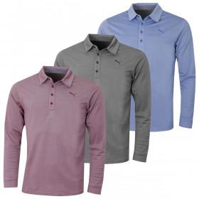 Puma Golf Mens Long Sleeve Polo Shirt