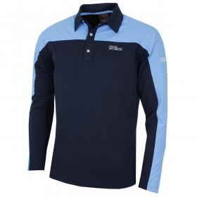 Oscar Jacobson Mens Spark Tour L/S Golf Polo Shirt