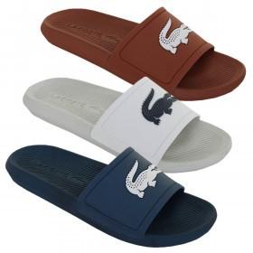 Lacoste Mens Croco Slide 219 1 CMA Flip Flops