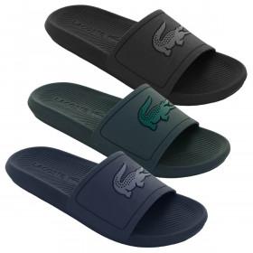 Lacoste Mens Croco Slide 319 1 CMA Slides Flip Flops