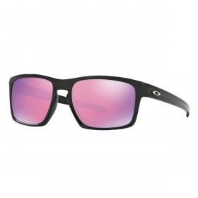 Oakley Sport Mens Sliver Prizm Golf Sunglasses - Polished Black/ Plutonite