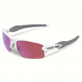 Oakley Sport Mens Flak 2.0 Sunglasses- Polished White/ Prizm Golf