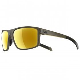 adidas Whipstart Sunglasses - Olive Matt - Gold Mirror lenses