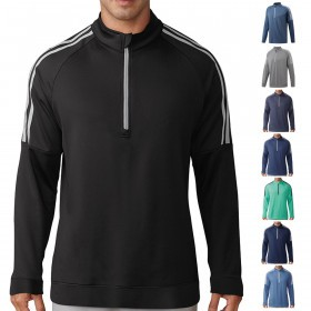 adidas Golf Mens 3-Stripes 1/4 Zip Pullover