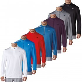 adidas Golf Mens 3-Stripes French Terry Pullover