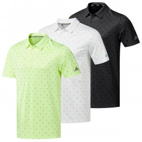 adidas Golf Mens Core Printed Polo Shirt