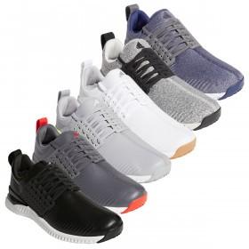 adidas Golf Mens Adicross Bounce Spikeless Cloudfoam Leather Golf Shoes