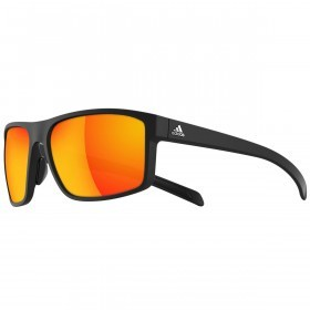 Adidas Whipstart Sunglasses - Black Matt/Grey - red mirror lenses