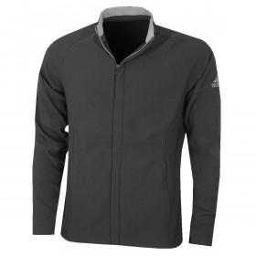 adidas Golf Mens Softshell Water Resistant Ribbed Cuffs Full Zip Jacket