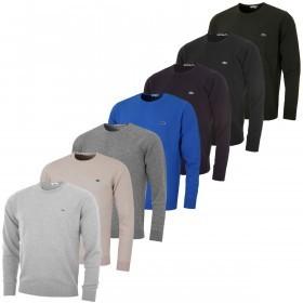 Lacoste Mens Crew Neck Wool Jersey Sweater