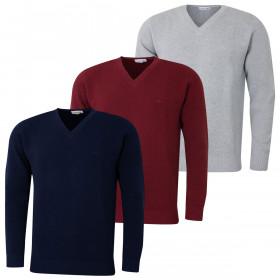Lacoste Mens 2019 Classic V-Neck Pique Sweater