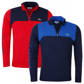 Lacoste Mens Aspirational Stand up Neck Golf Sweater