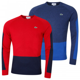 Lacoste Mens Colourblock Wool Golf Sweater