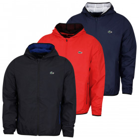 Lacoste Mens 2020 BH5176 Lightweight Full Zip Hooded Tennis Training Jacket
