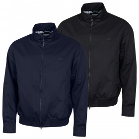 Lacoste Mens 2020 BH5314 Full Zip Biker Collar Lightweight Blouson Jacket
