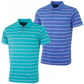 Bobby Jones Mens Line Multi-Stripe TF Golf Polo Shirt