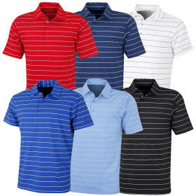 Bobby Jones Mens XH2O Momentum Stripe Poly Jersey Golf Polo Shirt