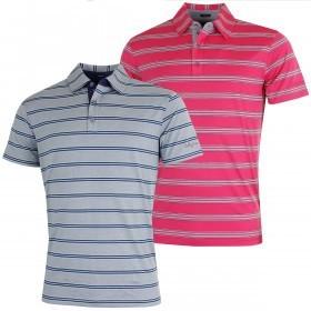 Bobby Jones Mens XH20 Wren Heather Stripe Golf Polo Shirt