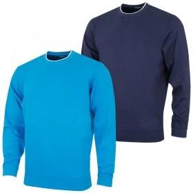 Bobby Jones Mens Pima Cotton V-Notch Sweatshirt