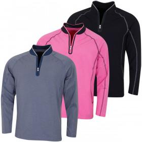 Bobby Jones Mens Rule 18 Tech F1 1/4 Zip Wicking Pullover Sweater