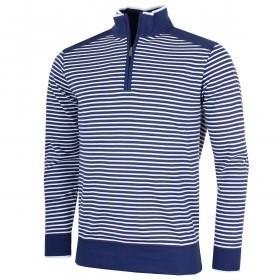 Bobby Jones Mens Pima Cotton Striped 1/4 Zip Pullover