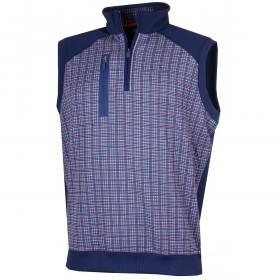 Bobby Jones Mens XH20 Grid Print 1/4 Zip Vest