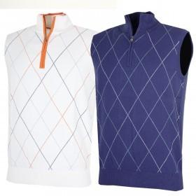 Bobby Jones Mens Cotton Cashmere Mix 1/4 Zip Vest