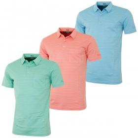 Bobby Jones Mens Supreme Cotton Ocean Stripe Golf Polo Shirt