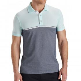 Bobby Jones Mens Rule 18 Tech Sandtown Stripe Golf Polo Shirt