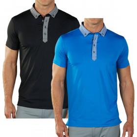 Bobby Jones Mens Rule 18 Tech Nobu Moisture Wicking Golf Polo Shirt