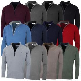 Calvin Klein Mens Chunky Cotton 1/2 Zip Sweater