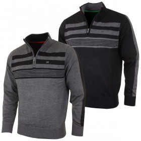 Calvin Klein Golf Mens CK Stripeblock Lined Sweater