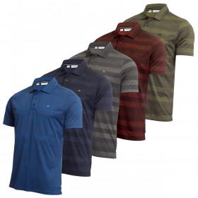 Calvin Klein Mens 2020 Shadow Stripe Lightweight Wicking Golf Polo Shirt