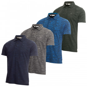 Calvin Klein Mens 2020 Aztec Wicking Lightweight Breathable Polo Shirt