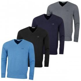 Calvin Klein Golf Mens 2019 V-Neck Tour Sweater