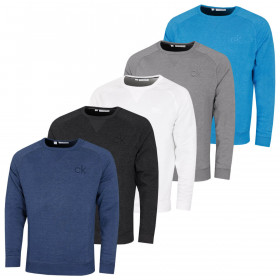 Calvin Klein Mens Columbia Crew Neck Wicking Soft Touch Sweater