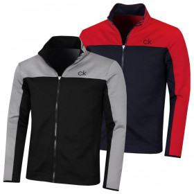 Calvin Klein Mens 2021 Retro Performance Full Zip Golf Sweater