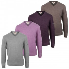 Cutter & Buck Mens Merino V Neck Sweater Golf Jumper