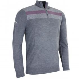 Callaway Golf Mens Jacquard Merino Sweater