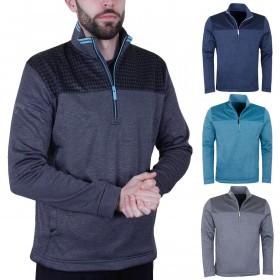 Callaway Golf Mens LS Durable Drawstring Finish Printed Fleece