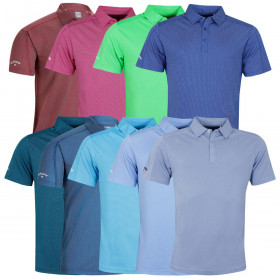Callaway Golf Mens 2020 SS 2 Color Fashion Jacquard Wicking Stretch Polo Shirt