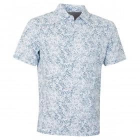 Callaway Mens Golf SS Roadmap Texture Print Polo Shirt