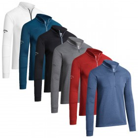 Callaway Mens 2019 Pieced Waffle 1/4 Zip Pullover Sweater