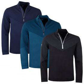 Callaway Mens 2020 Golf Ribbed Ottoman Fleece Sweater