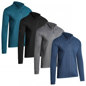 Callaway Mens 2019 Full Zip Waffle With Pockets Sweater