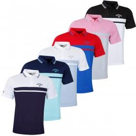 Callaway Golf Mens Colour Blocked Pique Tour Polo Shirt